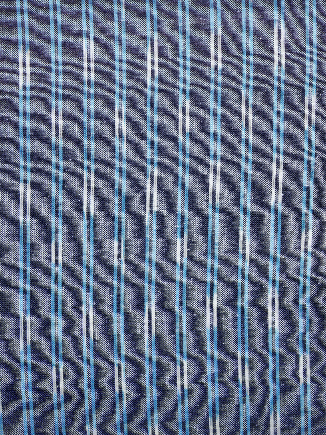 Grey White Light Blue Pochampally Hand Weaved Ikat Fabric Per Meter - F003F1242