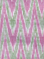 Lavender Green Grey Hand Weaved Ikat Mercerised  Fabric Per Meter - F002F1429