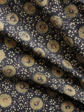 Black Olive Green Pink Ivory Ajrakh Hand Block Printed Cotton Fabric Per Meter - F003F1532