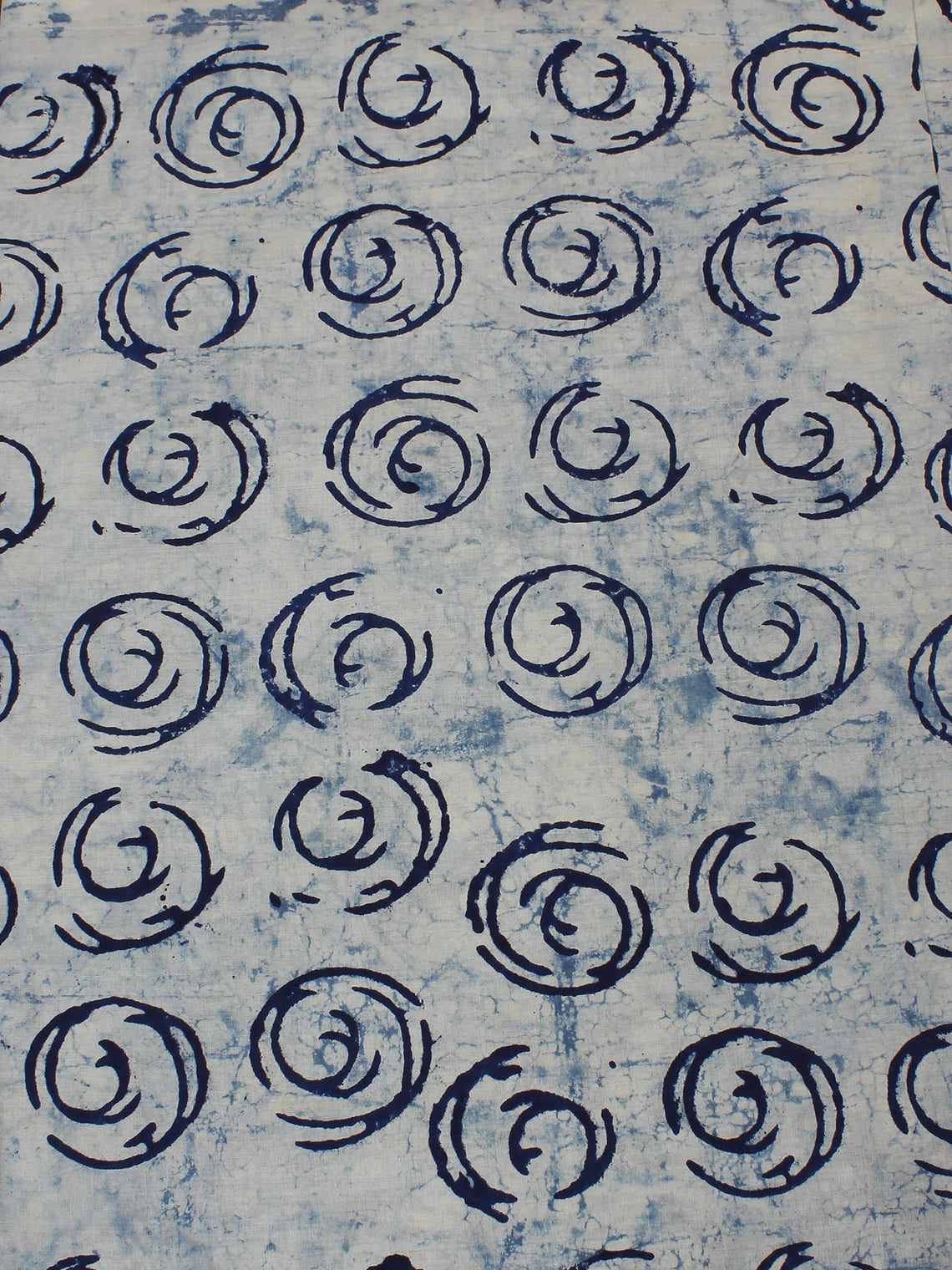 Indigo Hand Block Printed Cotton Cambric Fabric Per Meter - F0916116