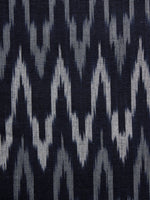 Blue White Grey Pochampally Hand Woven Ikat Fabric Per Meter - F002F937