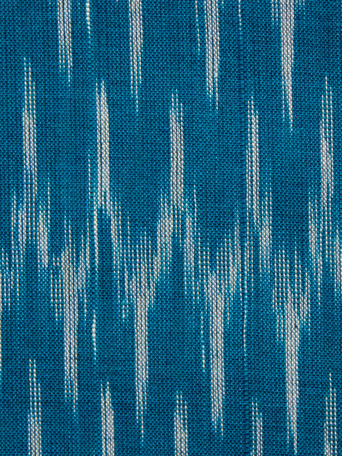 Blue Grey Hand Weaved Ikat Mercerised  Fabric Per Meter - F002F1432