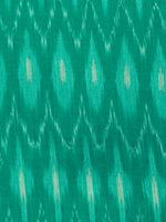 Green Ivory Pochampally Hand Weaved Ikat Mercerised  Fabric Per Meter - F002F1434