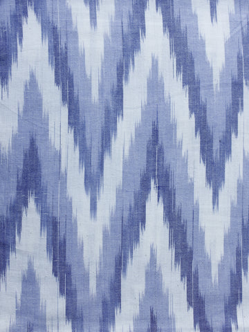 Blue Pochampally Hand Weaved Ikat Fabric Per Meter - F003F1243