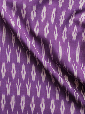 Purple Grey Pochampally Hand Weaved Ikat Mercerised  Fabric Per Meter - F002F1437