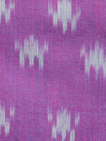 Purple Grey Pochampally Hand Weaved Ikat Mercerised  Fabric Per Meter - F002F1436