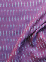 Purple Grey Pochampally Hand Weaved Ikat Mercerised Cotton Fabric Per Meter - F002F1023