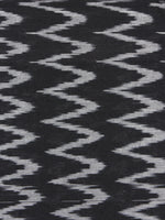 Black Ivory Pochampally Hand Weaved Ikat Fabric Per Meter - F0916752
