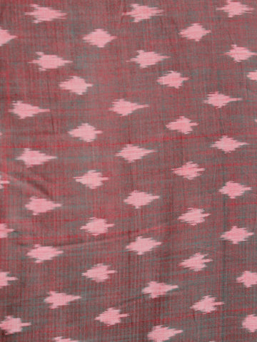 Maroon Pink Pochampally Hand Weaved Ikat Mercerised Cotton Fabric Per Meter - F002F1985
