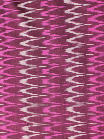 Wine Red Pink White Pochampally Hand Weaved Ikat Mercerised Cotton Fabric Per Meter - F002F1989