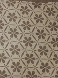 Beige Hand Block Printed Cotton Cambric Fabric Per Meter - F0916040