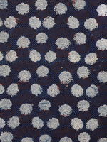 Indigo Ivory Black Rust Hand Block Printed Cotton Fabric Per Meter - F001F1740