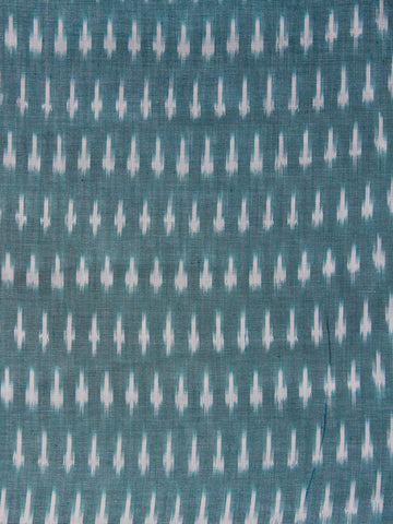 Teal Blue Pochampally Hand Weaved Ikat Mercerised Fabric Per Meter - F003F1269