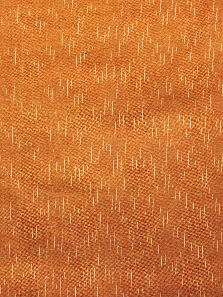 Mustard Yellow Ivory Hand Woven Ikat Handloom Cotton Fabric Per Meter - F002F1464