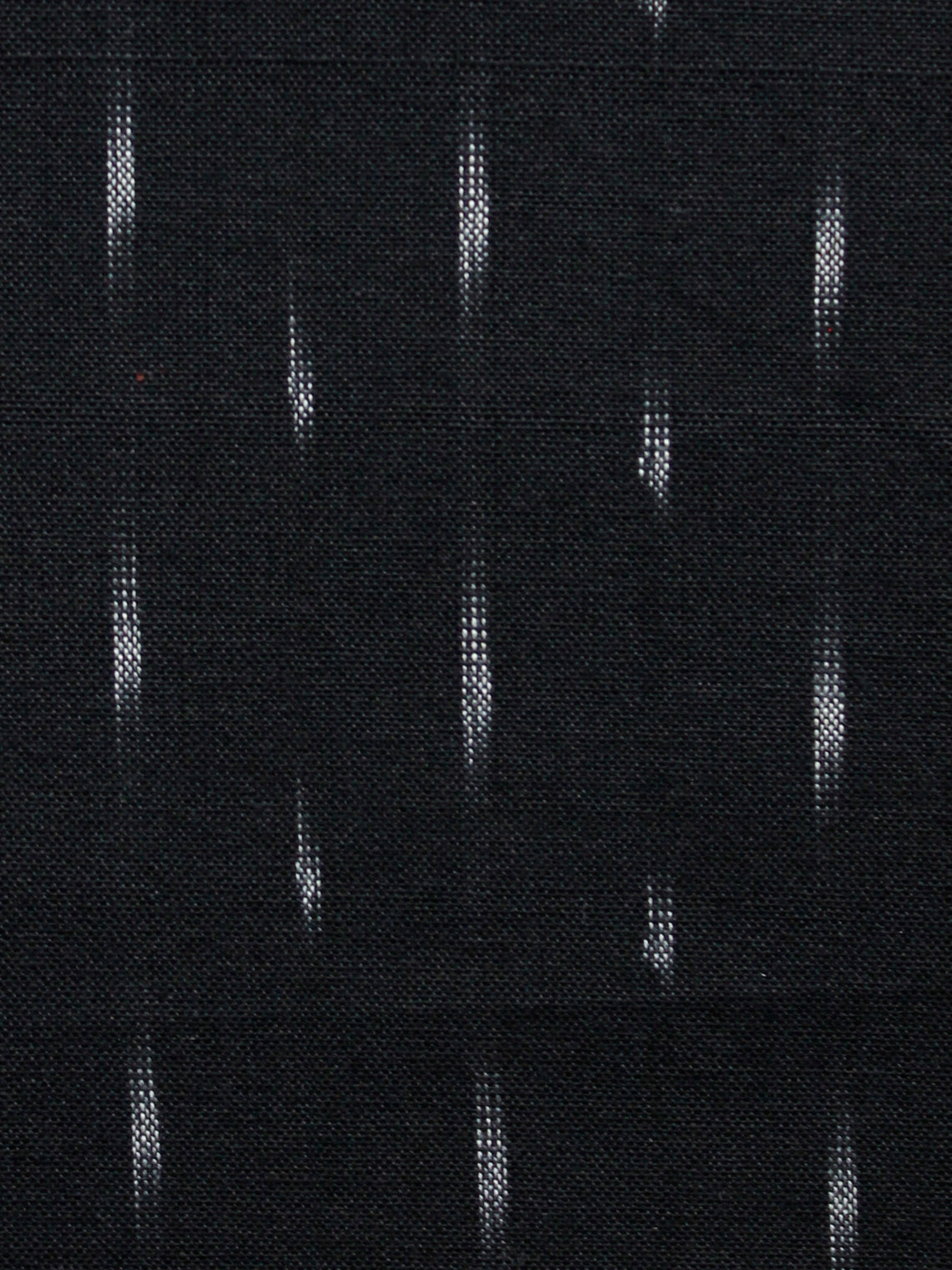 Black White Pochampally Hand Woven Ikat Cotton Fabric Per Meter - F002F1466