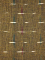 Mustard Multi Color Pochampally Hand Weaved Double Ikat Fabric Per Meter - F0916665
