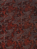 Black Rust Indigo Beige Ajrakh Hand Block Printed Cotton Fabric Per Meter - F003F1802