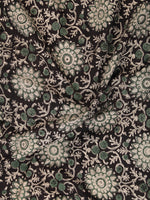 Black Green OffWhite Hand Block Printed Cotton Fabric Per Meter - F001F2444