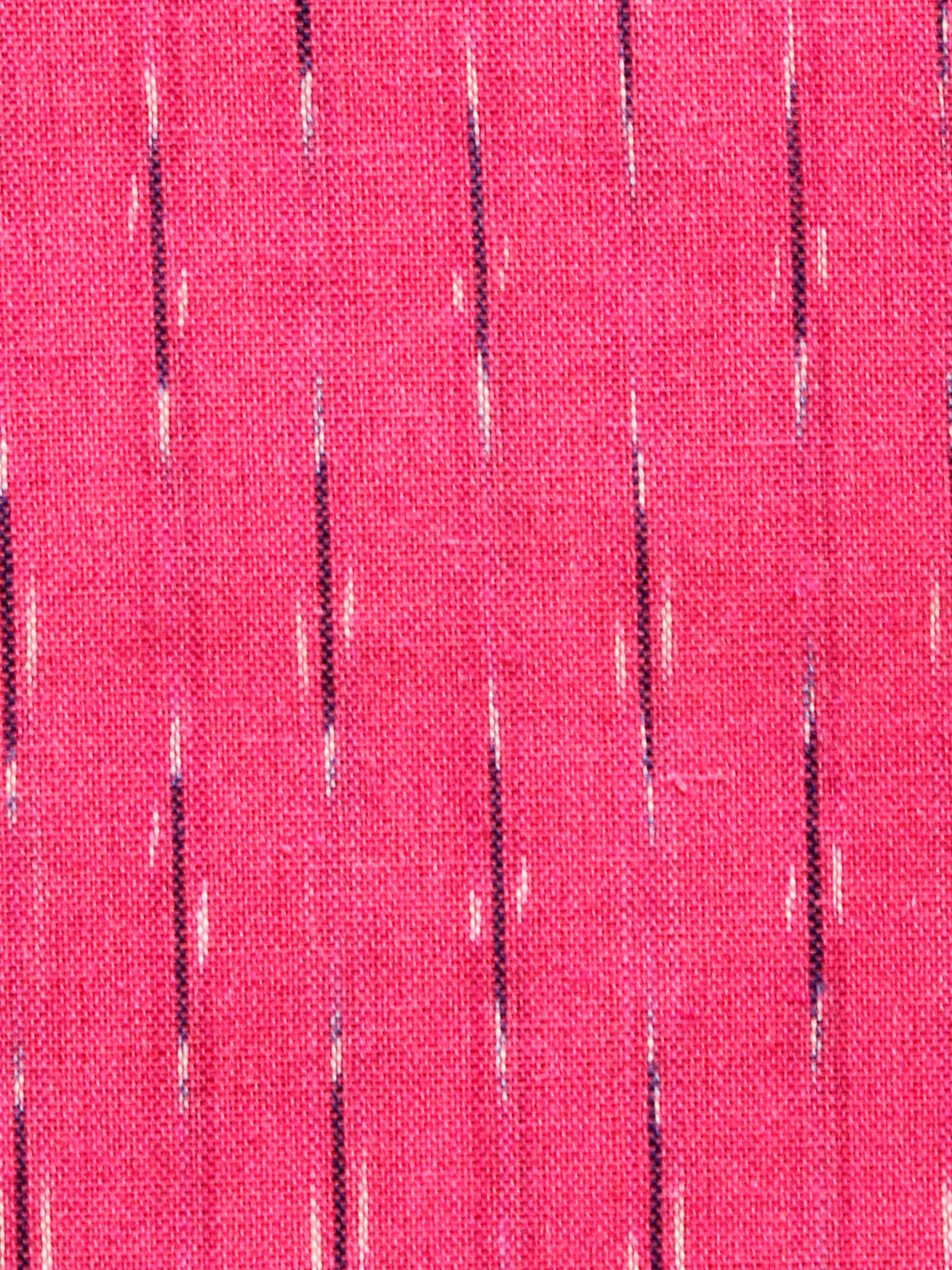 Coral Red Black White Hand Woven Ikat Handloom Cotton Fabric Per Meter - F002F1473