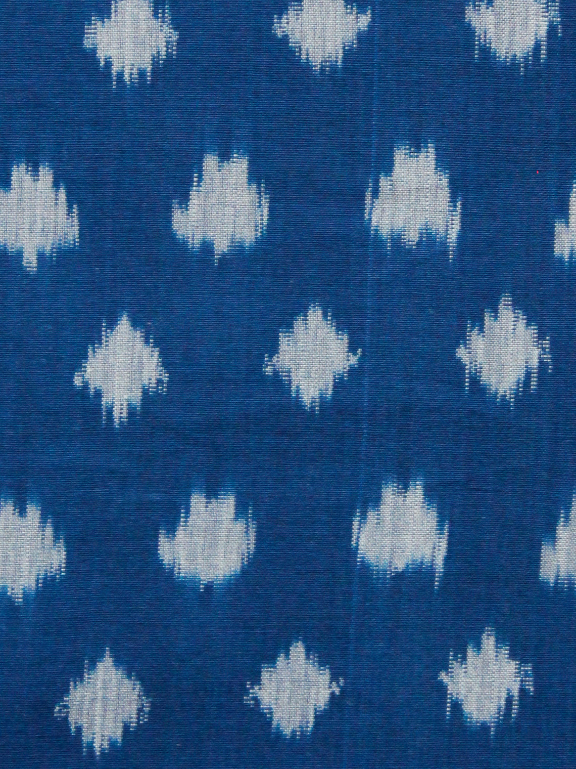 Royal Blue Grey Pochampally Hand Weaved Ikat Mercerised Fabric Per Meter - F002F1479