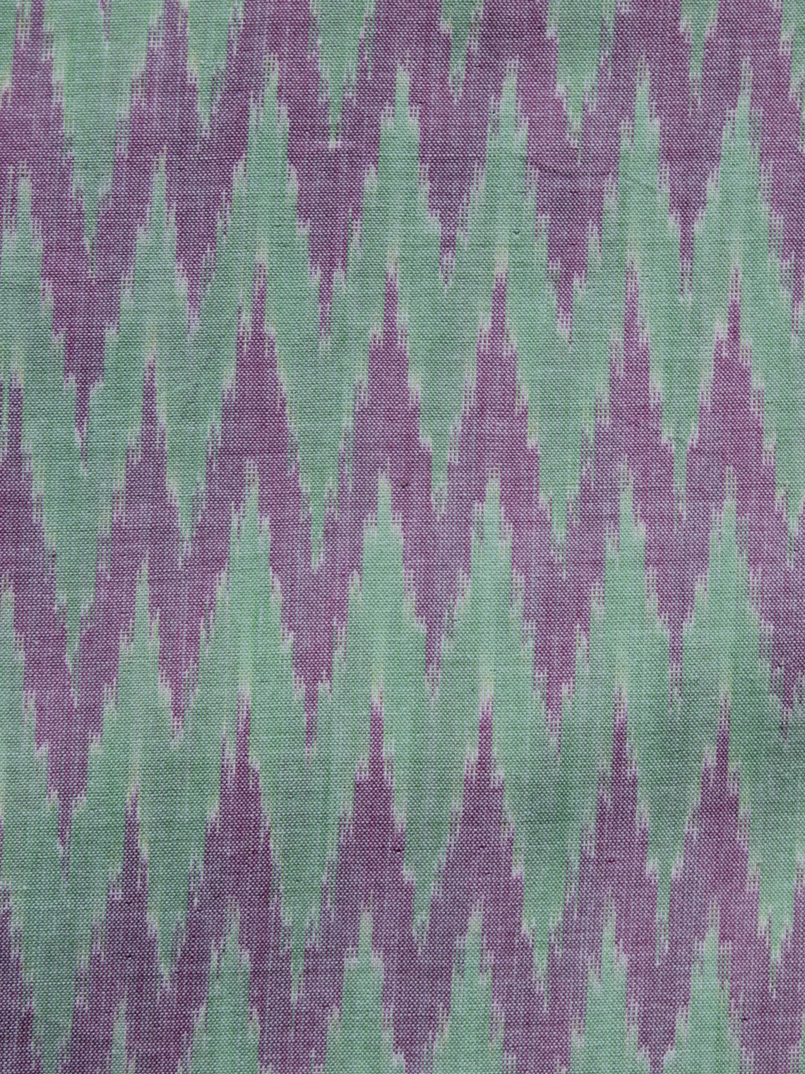 Lavender Green Pochampally Hand Weaved Ikat Mercerised Cotton Fabric Per Meter - F002F1027