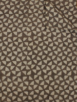 Beige Hand Block Printed Cotton Cambric Fabric Per Meter - F0916382