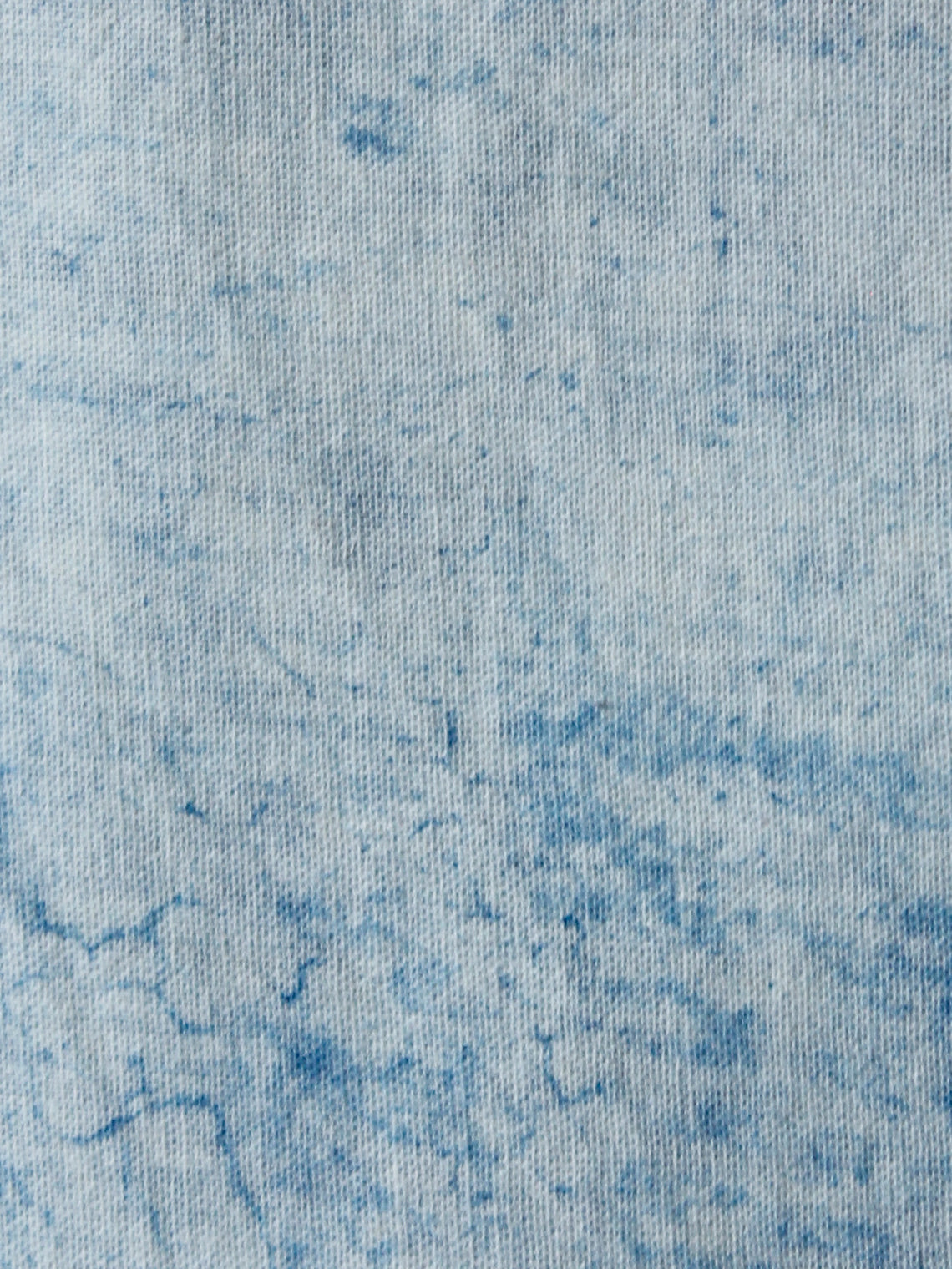 Indigo Ivory Hand Brush Painted Cotton Fabric Per Meter - F001F1339