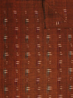 Mustard Green Ivory Pochampally Hand Weaved Double Ikat Fabric Per Meter - F002F802