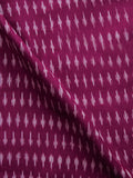 Purple Grey Pochampally Hand Weaved Ikat Mercerised Fabric Per Meter - F002F1562