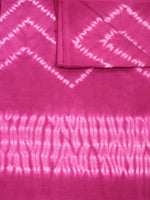 Pink Ivory Hand Shibori Dyed Cotton Fabric Per Meter - F0916292