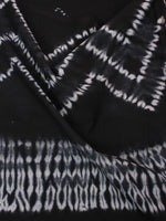 Black White Hand Shibori Dyed Cotton Fabric Per Meter - F0916284