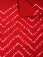 Red White Hand Shibori Dyed Cotton Fabric Per Meter - F0916276