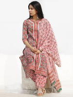 Nayab Ainy - Set of Kurta Salwar Pants & Dupatta - KS78J2540D
