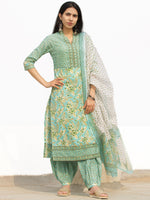 Nayab Aaina - Set of Kurta Salwar Pants & Dupatta - KS59F2541D