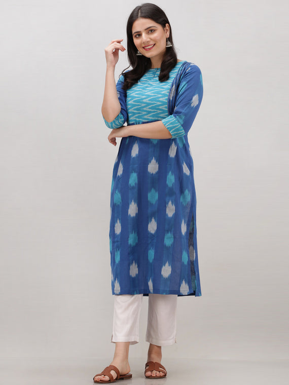 Tagai Azzure - Set of Ikat Kurta & Pants  - KS119A2436