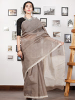 Kashish Ivory Hand Block Printed Kota Doria Saree in Natural Colors - S031702855