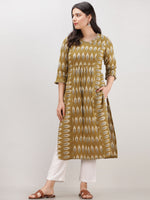 Tagai Rumaya - Set of Ikat Kurta & Pants  - KS120A2435