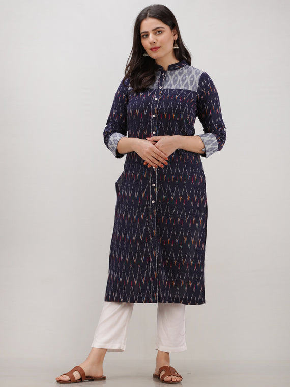 Tagai Saima - Set of Ikat Kurta & Pants  - KS124A2432