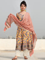 Rozana Shifat - Set of Anarkali Kurta Pants & Dupatta - KS57D2476D