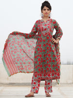 Rozana Amara - Set of Kurta Pants & Dupatta - KS131A2477D