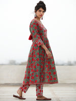 Rozana Uzma - Set of ALine Kurta Pants & Dupatta - KS134A2477D