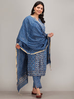 Jashn Nagma - Set of Kurta Pants & Dupatta - kS29GYYYD