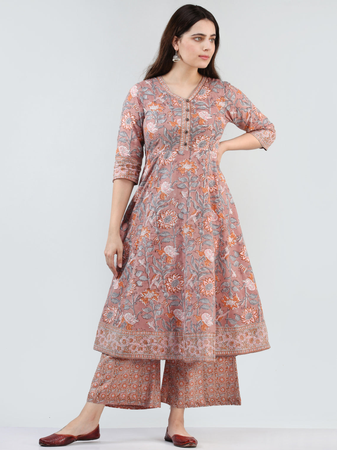 Zohra Fana -  Kurta With Tie up Waist - KK19A2505