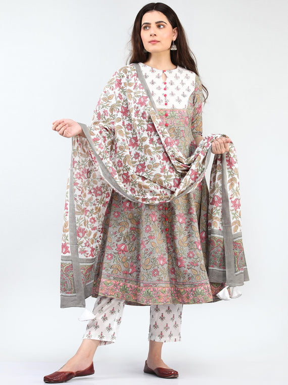 Zohra Sanaz - Set of Kurta Pants & Dupatta - KS69A2503D