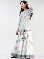Zohra Nofee - Set of Top Skirt & Dupatta - KS43E2504D