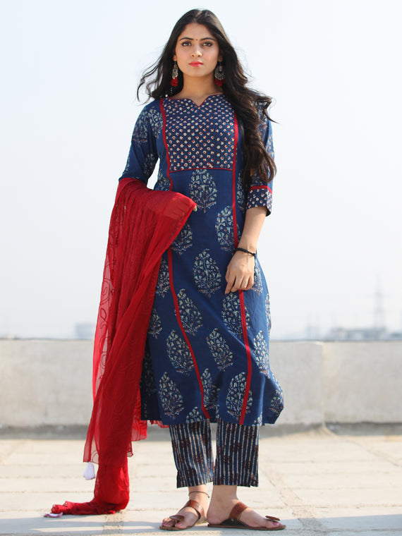 Bahaar Nazah - Set of Kurta Pants & Dupatta - KS03H1835D