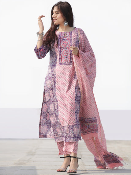Nayab Samah - Set of Kurta Pants & Dupatta - KS76D2533D