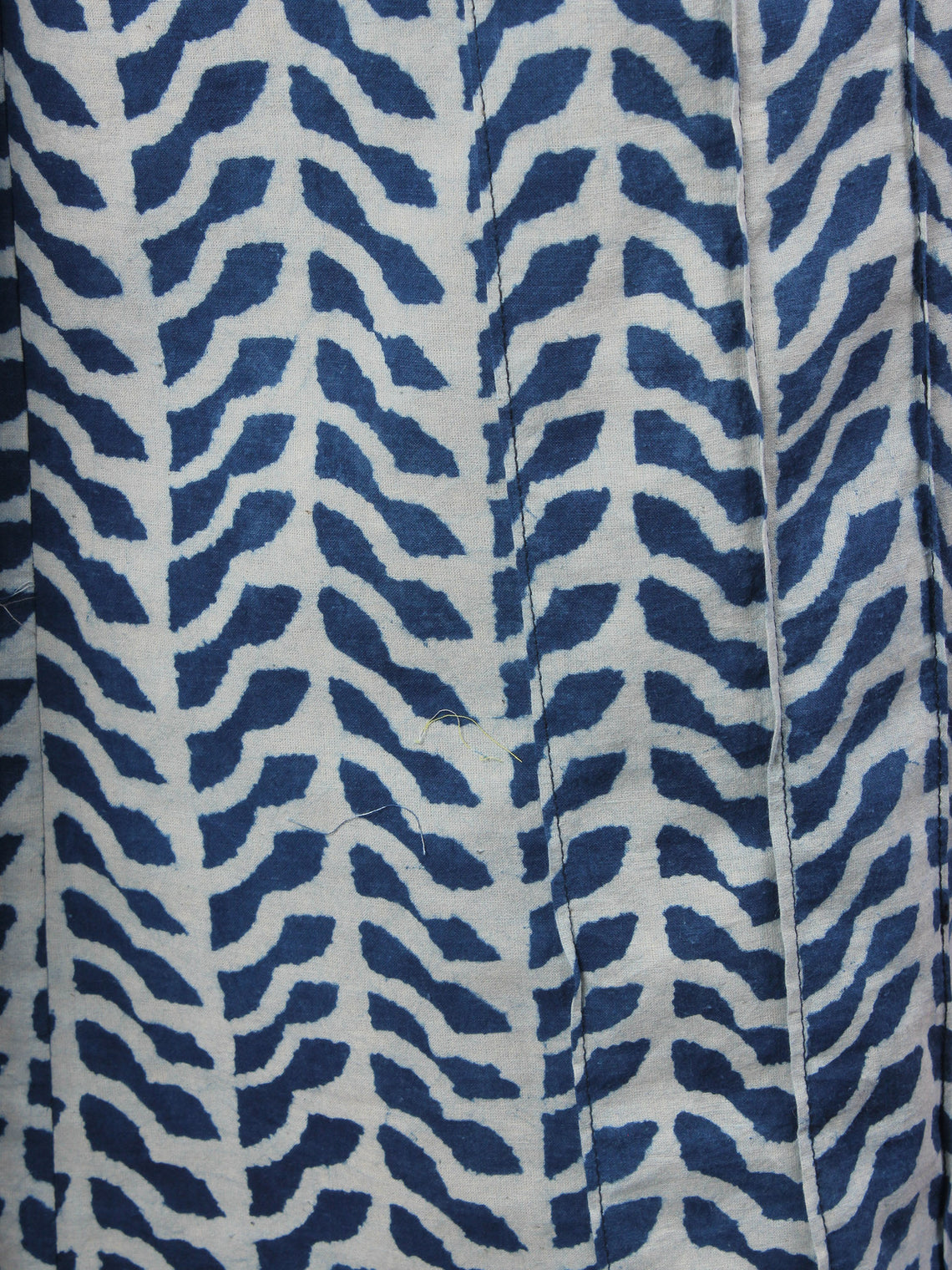 Indigo Hand Block Printed Elasticated Waist Pleated Cotton Palazzo - P1117060
