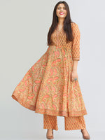 Rozana Zafraan Anarkali Kurta Palazzo Set - KS33AS2272