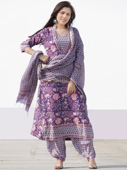 Nayab Tahsin - Set of Kurta Salwar Pants & Dupatta - KS60V2535D